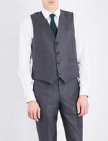 Paul Smith Mens Grey Contrast Modern Coat