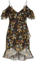 Nicholas Floral Wrap Mini Dress