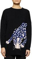 Stella McCartney Leopard-Print Knit Sweatshirt
