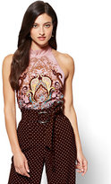 New York & Co. 7th Avenue - Halter Blouse - Medallion Print