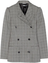 Alexander McQueen Glen plaid wool and mohair-blend blazer