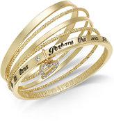 Thalia Sodi Gold-Tone 5-Pc. Set Pavé Heart Lyric Bangle Bracelets