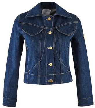 Patou Embroidered logo denim jacket