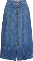 Frame Le Panel midi denim skirt