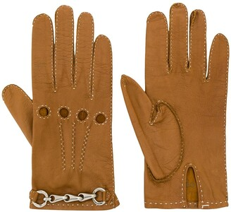 Céline Pre Owned 1980/1990s Pre-Owned Chain Detail Gloves