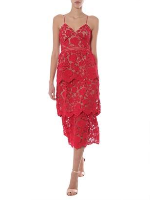 Self-Portrait Midi Dress
