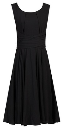 Dorothy Perkins Womens Jolie Moi Black Belted Fit And Flare Dress, Black