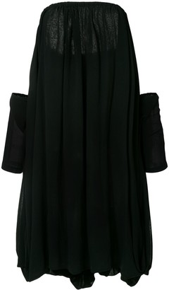 Yohji Yamamoto Pre-Owned Off-Shoulder Flared Dress