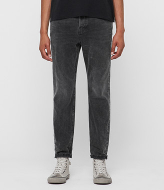 AllSaints Ridge Tapered Jeans, Washed Black