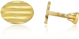 Torrini Stripes - 18K Yellow Gold Oval Cufflinks