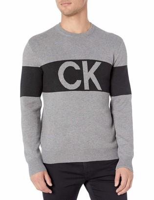 Calvin Klein Men's Classic Logo Heritage Crewneck Sweater