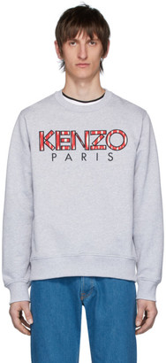 Kenzo Grey Fishnet Logo Sweatshirt