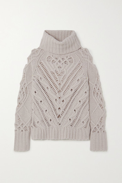 Altuzarra Ernestine Cable-knit Turtleneck Sweater - Ivory