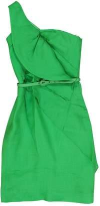 Oscar de la Renta \N Green Silk Dresses