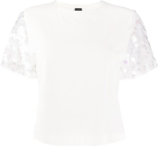 Pinko sequin sleeve T-shirt