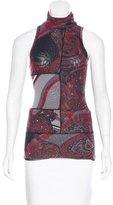 Jean Paul Gaultier Paisley Print Sleeveless Top