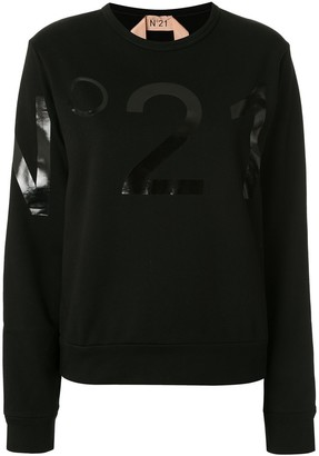 No.21 Laminated Logo Sweatshirt