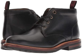 Florsheim Foundry Plain Toe Chukka Boot (Black Horween) Men's Lace-up Boots