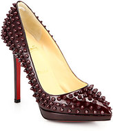 Christian Louboutin Pigalle 120 Spiked Patent Leather Pumps