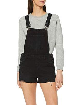 New Look Women Rip Short Dungarees,(Manufacturer Size:)