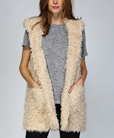 Taupe Hooded Vest