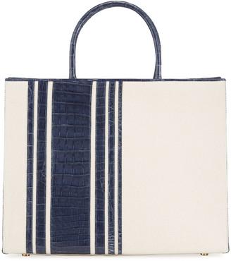 Nancy Gonzalez Emma Medium Stripe Crocodile Tote Bag