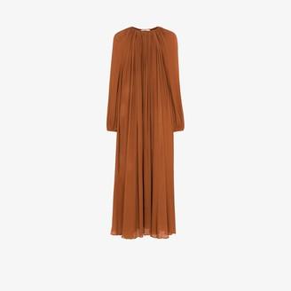 Matteau The Blouson silk maxi dress