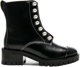 3.1 Phillip Lim Lug Sole Zipper Leather Boots with Pearls