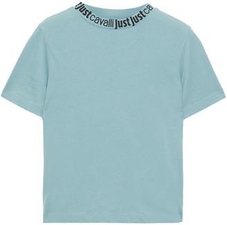Just Cavalli Monogram-trimmed Cotton-jersey T-shirt