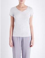 Calvin Klein Luxe jersey pyjama top
