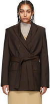 Acne Studios Brown Wool Mohair Belted Blazer