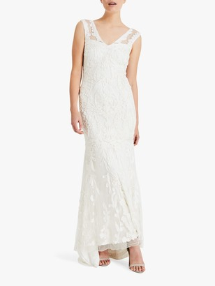 Phase Eight Bridal Phase Eight Valerie Floral Lace Bridal Dress, Cream