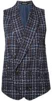 Undercover checked waistcoat