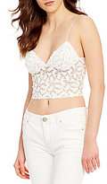 Free People Lacey Cropped Lace Camisole