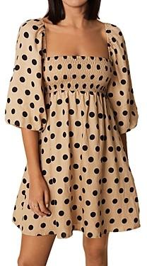 Faithfull The Brand Dallia Linen Puff Sleeve Mini Dress