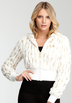 Bebe Sequin Faux Fur Hoodie - ONLINE EXCLUSIVE