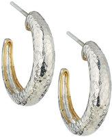 Gurhan Hoopla Small Tapered Hoop Earrings, Silver