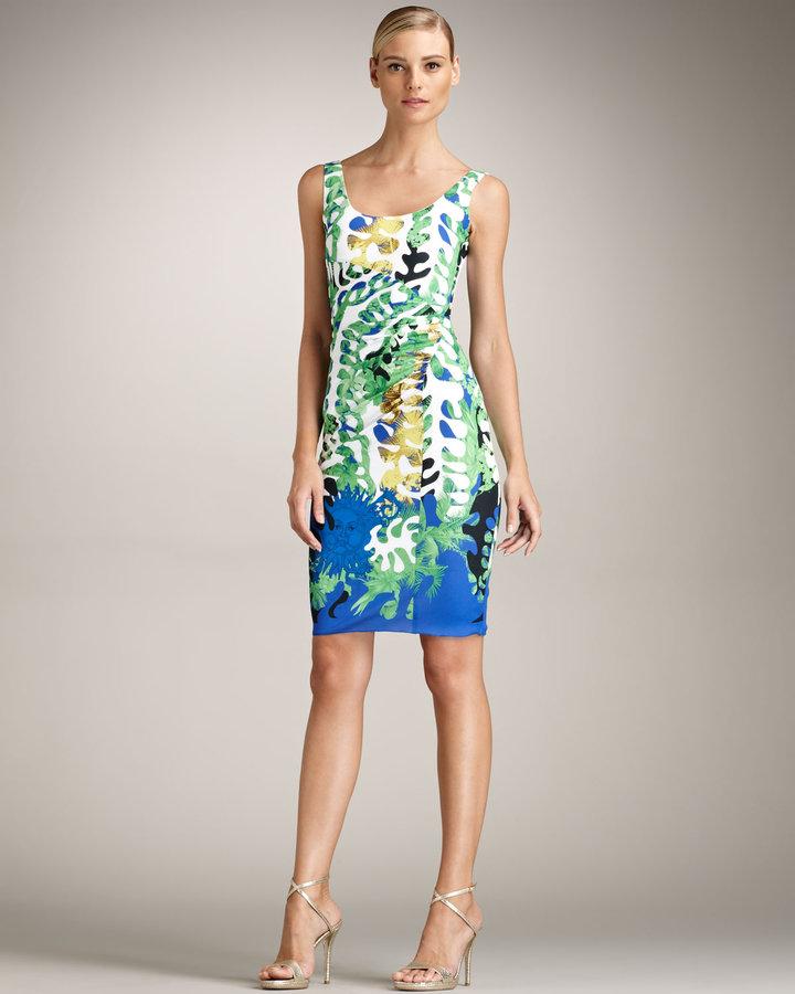 Versace Scoop Neck Dress