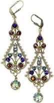 Swarovski Anne Koplik Crystal Filigree Statement Earrings