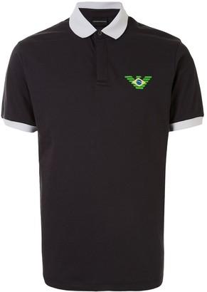 Emporio Armani Logo Print Polo Shirt