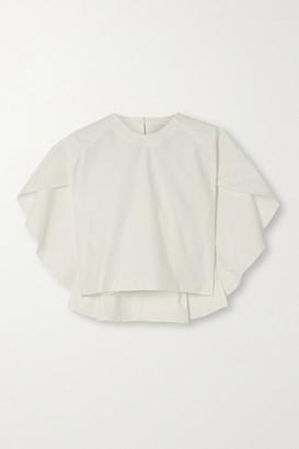 KING & TUCKFIELD Cape-effect Organic Cotton-twill Top - White