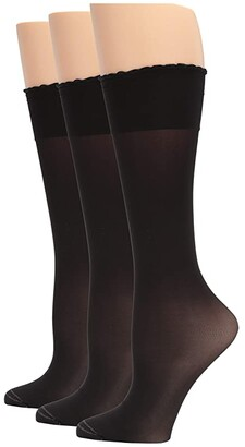 Hue Graduated Compression Sheer Knee High 3-Pair Pack