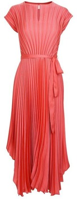 HUGO BOSS Pleated Asymmetric Dress