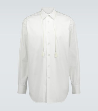 Jil Sander Tasseled-collar overshirt