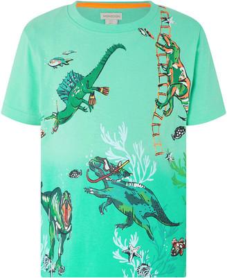 Monsoon Mason Dinosaur T-Shirt Green