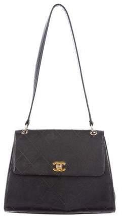 Chanel Quilted Caviar Shoulder Bag