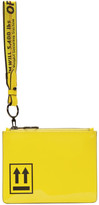 Off-White Off White Yellow Patent Pouch