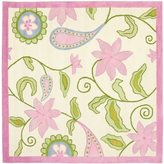 Safavieh Handmade Kids Ivory/ Pink Wool Rug (5' Square)