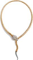John Hardy Women's Legends Cobra Necklace in 18K Gold with Diamonds