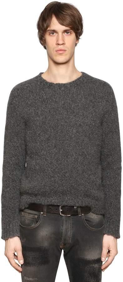 Etro Alpaca & Wool Raw Hem Knit Sweater
